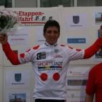 Ron bei der Siegerehrung als Gewinner des Bergtrikots bei der Int. 3-Etappenfahrt in Frankfurt