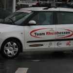 Teamfahrzeug im Einsatz