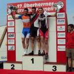 Platz 3 für Merse, Gratulation und Belohnung für ein starkes Rennen von Merse und Wichti