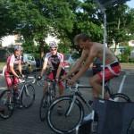 Vorbereitung auf das Rennen in Lollar