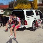 Sascha und Merse vor dem Rennen