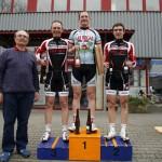 Podium in Mainz-Kastel mit Daniel als 2ten und Sven als 3ten